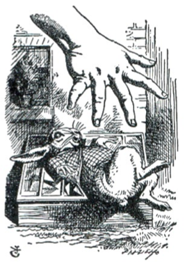 'Alice's Giant Hand' by John Tenniel